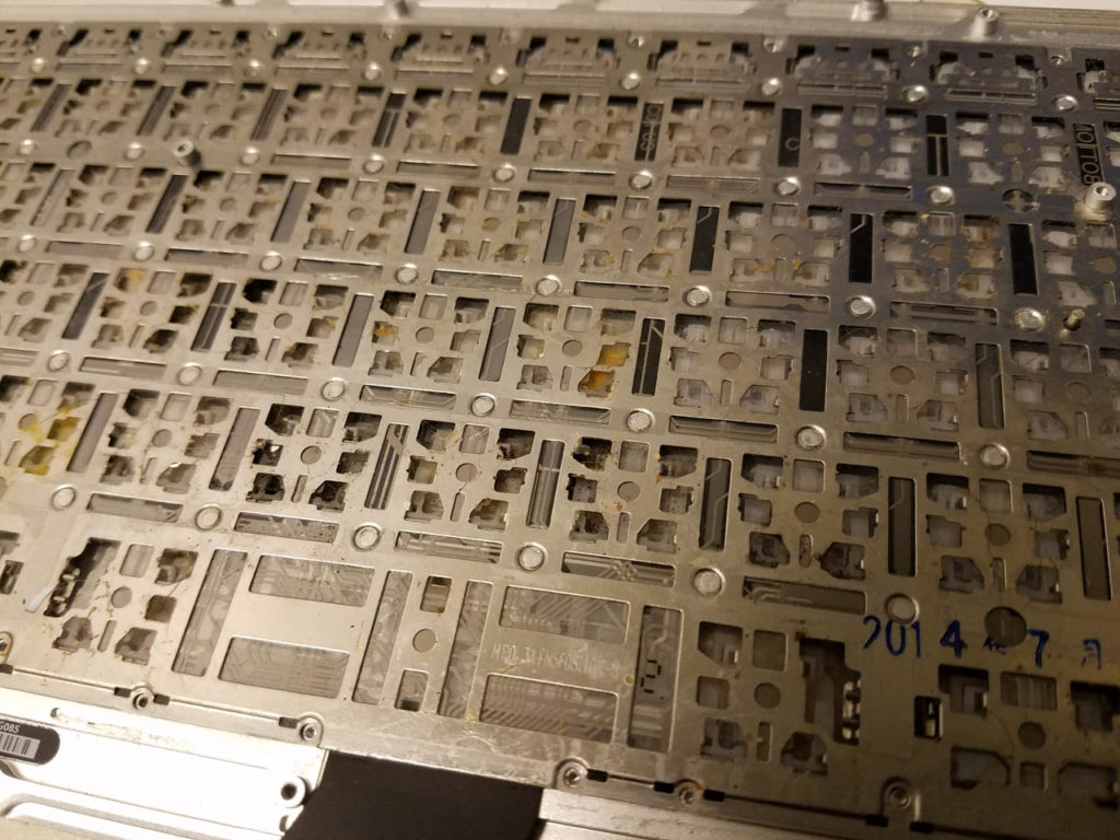 damaged keyboard